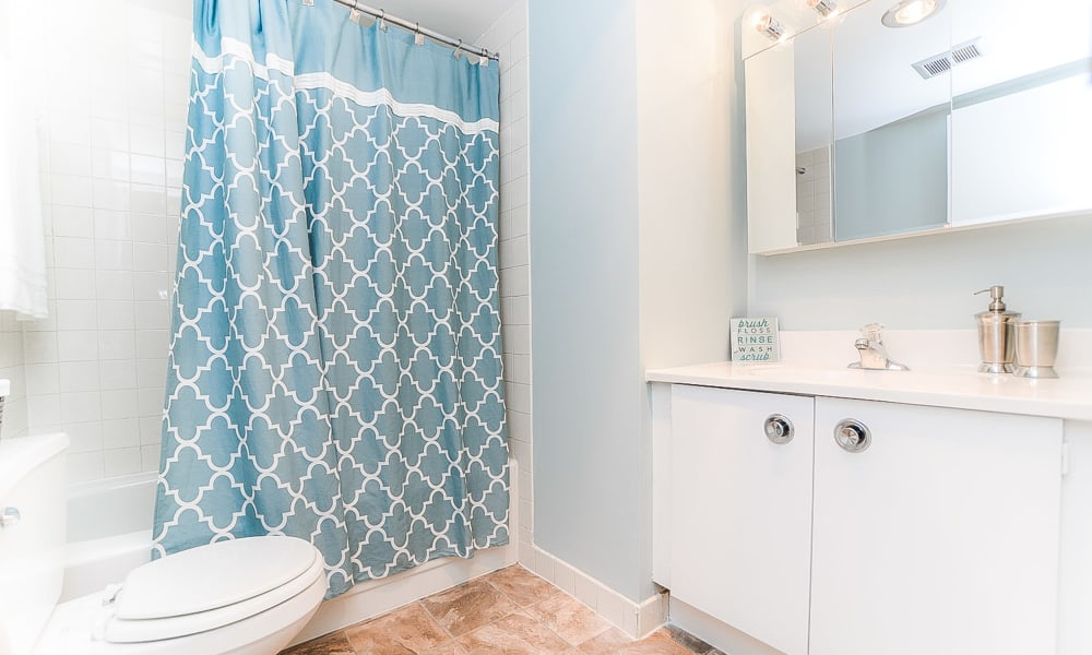 Enjoy a spacious bathroom at Place One Apartment Homes
