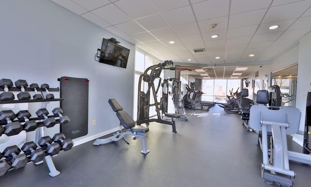 Stay healthy in the Henson Creek Apartment Homes fitness center in Temple Hills