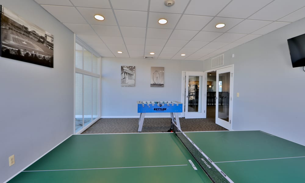 Table tennis table at Henson Creek Apartment Homes