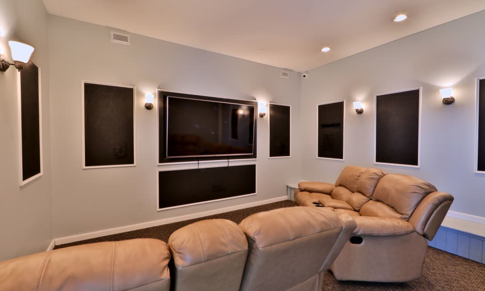 Play your favorite movies at Henson Creek Apartment Homes theater