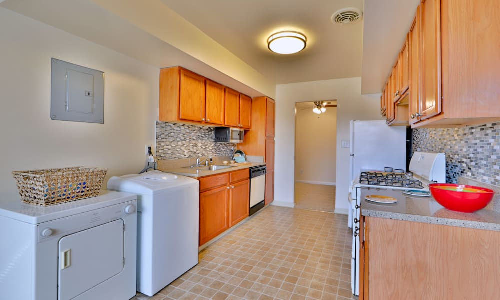 Kitchen and laundry room at Westerlee Apartment Homes