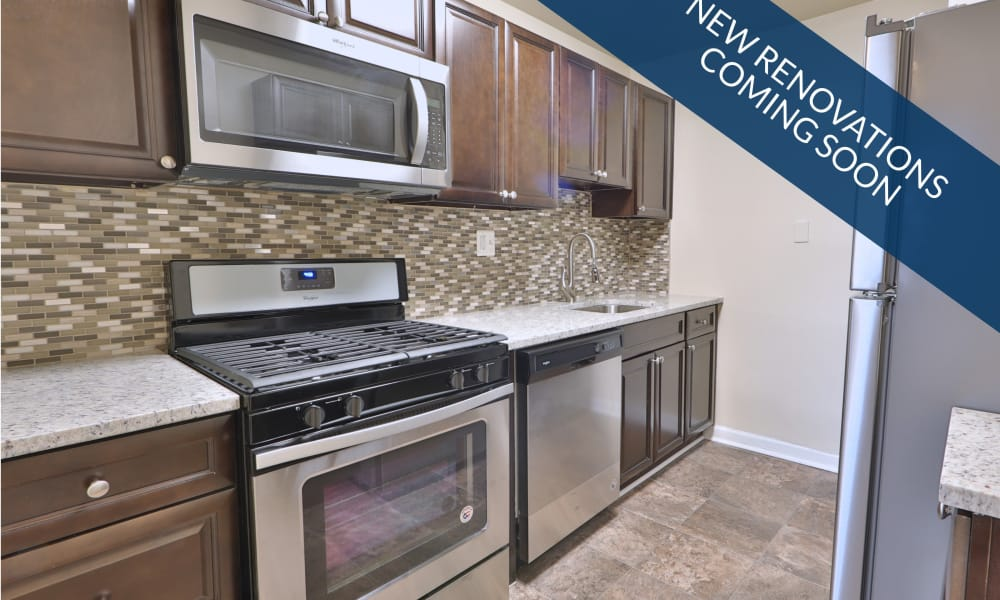 Renovated kitchen at Gwynn Oaks Landing Apartments & Townhomes