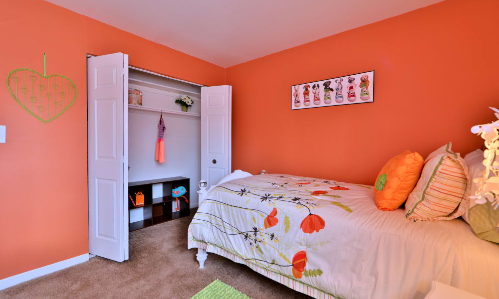 Bedroom with closet at Gwynn Oaks Landing Apartments & Townhomes
