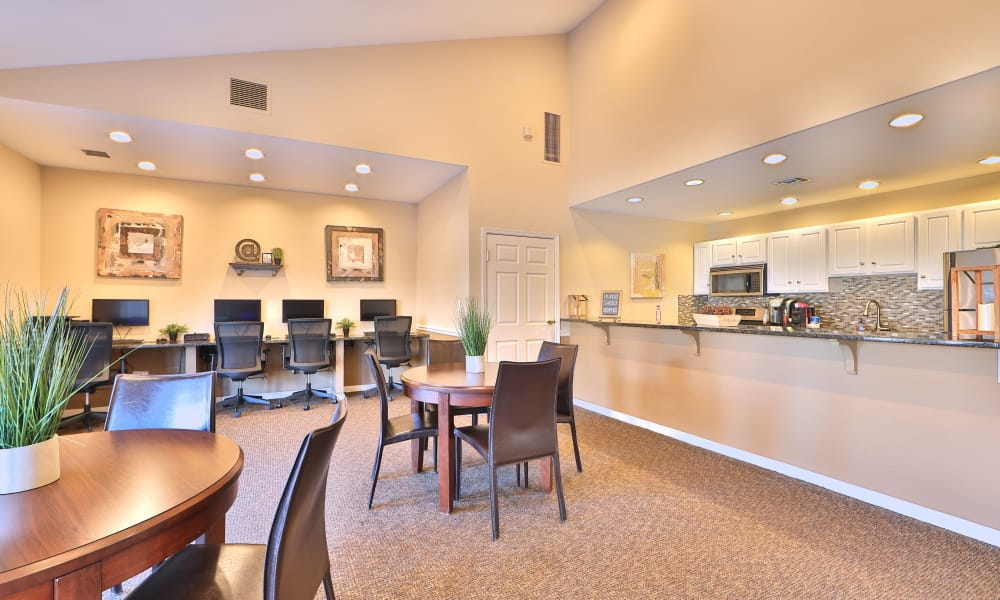 Clubhouse's interior view at Willow Lake Apartment Homes