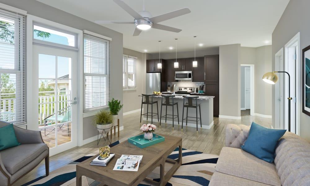 Alta Brighton Park model apartment interior