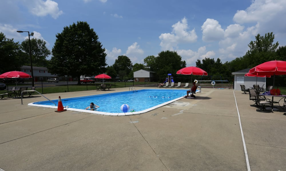 Victoria Gardens Apartments offers a swimming pool in Louisville, Kentucky