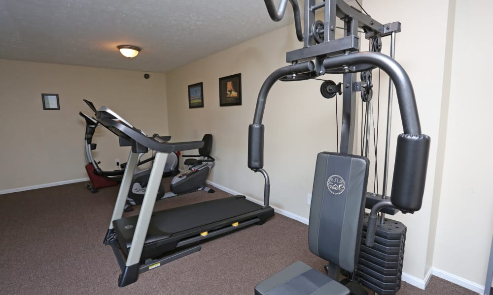 Victoria Gardens Apartments offers a fitness center in Louisville, Kentucky
