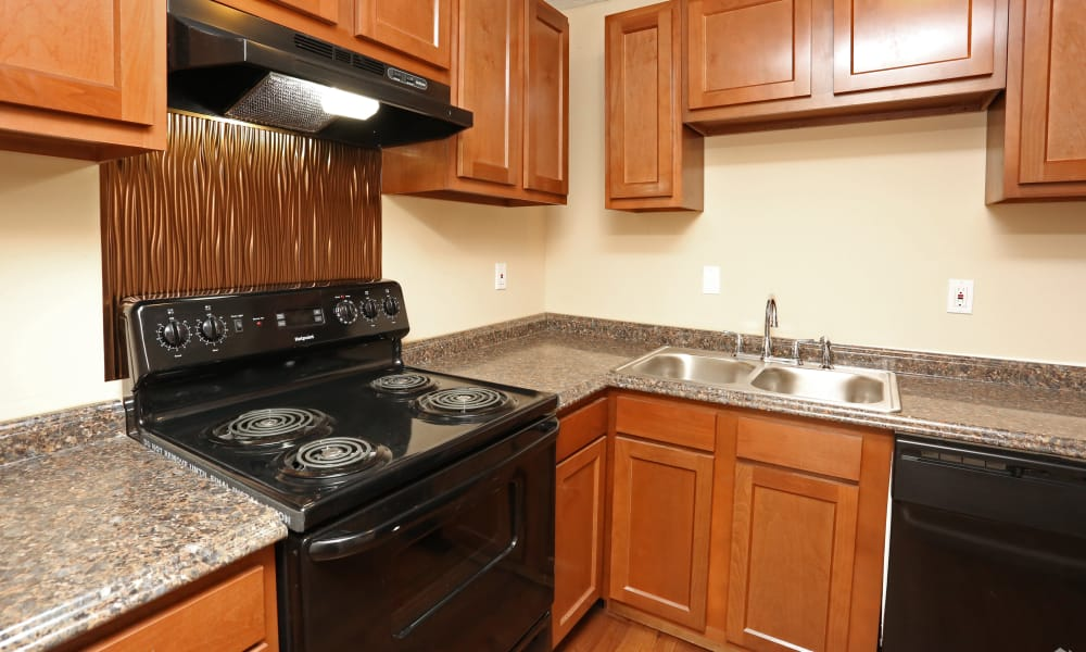 Kitchen at King Henry Apartments in Lexington, Kentucky