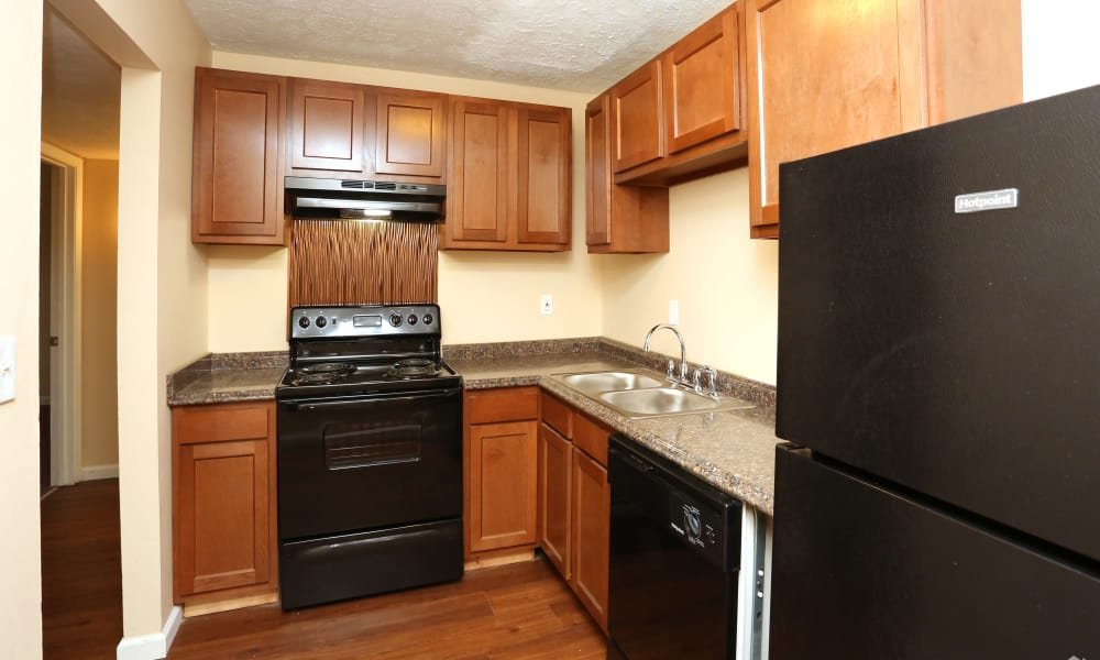 Our apartments in Lexington, Kentucky offer a fully equipped kitchen