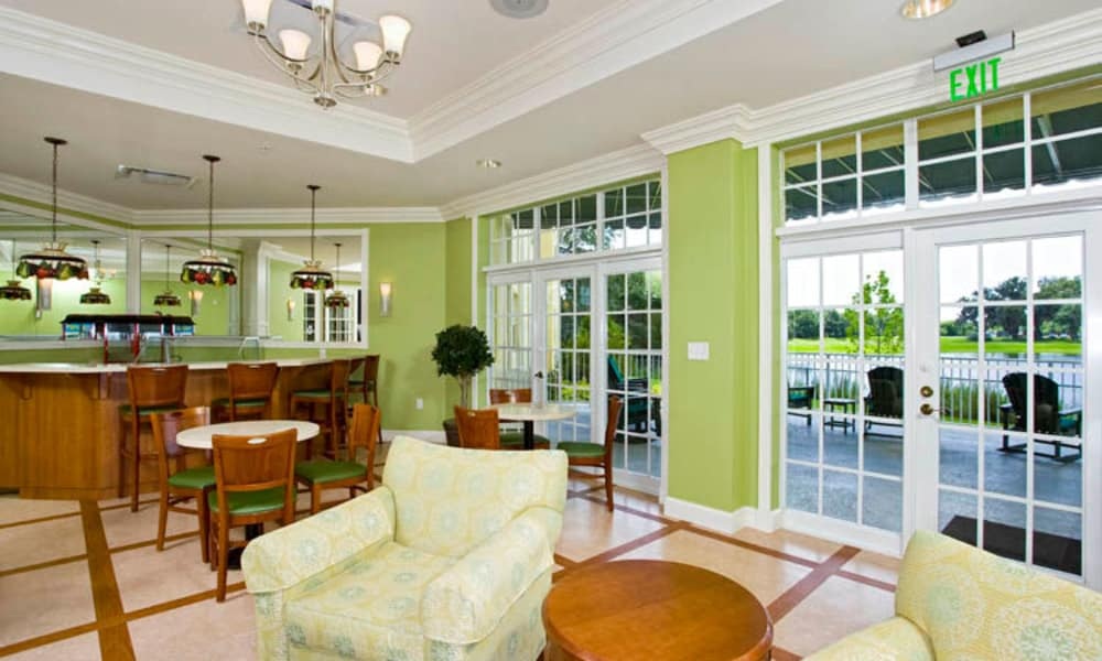 Common area with view to our patio at Arbor Oaks at Lakeland Hills in Lakeland, FL