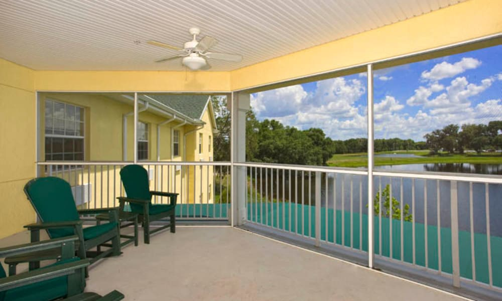 Arbor Oaks at Lakeland Hills offers a covered patio in Lakeland, FL