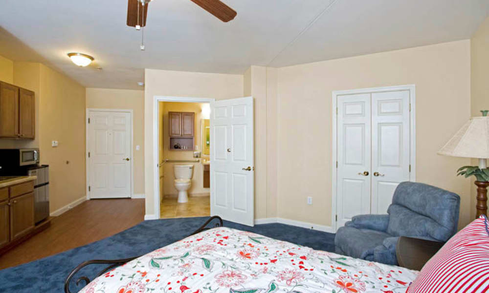 Spacious bedroom at Arbor Oaks at Lakeland Hills in Lakeland, Florida