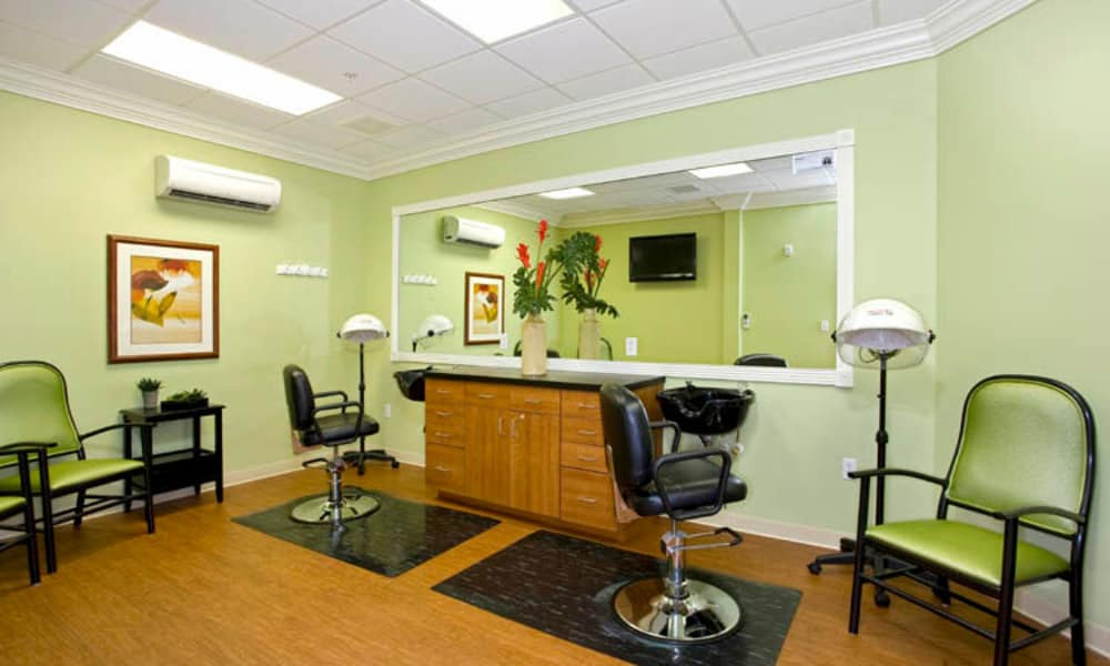 Our apartments in Lakeland, Florida showcase a cozy salon