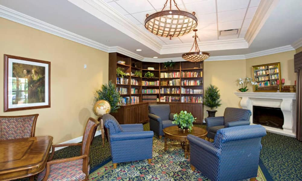 Unique studio library at Arbor Oaks at Lakeland Hills in Lakeland, Florida