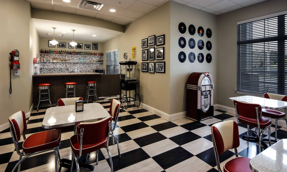 Ice cream parlor at Arbor Hills in Lakeland, Florida