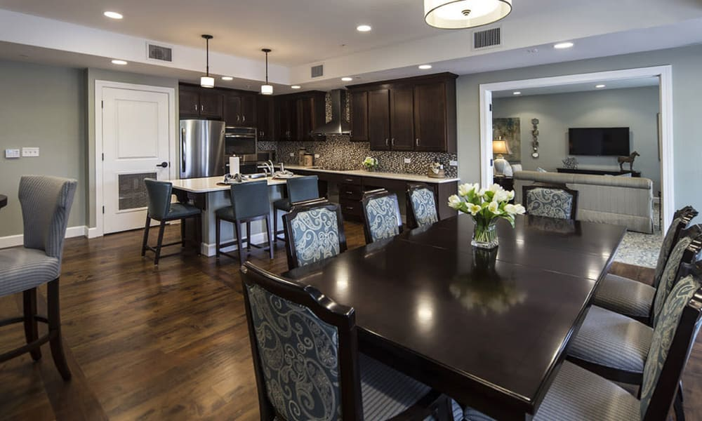 Social kitchen at Arbor Hills in Lakeland, Florida
