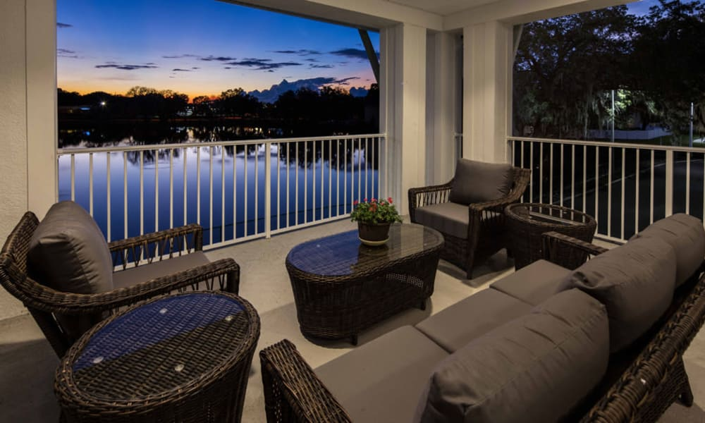 Gorgeous view from verandah at Arbor Hills in Lakeland, Florida