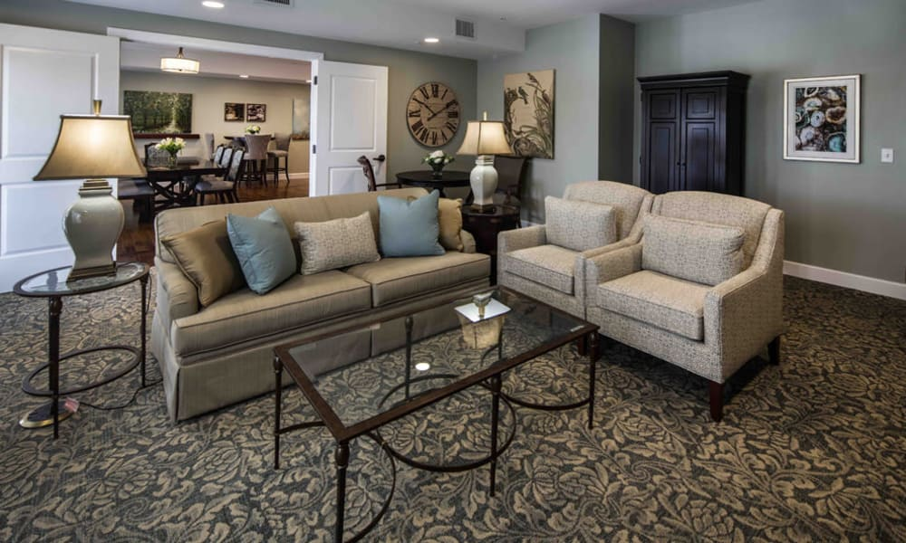 Arbor Hills showcases a beautiful living room in Lakeland, Florida