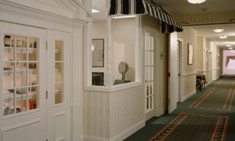 Interior halls at Arbor Oaks at Tyrone in St. Petersburg, Florida