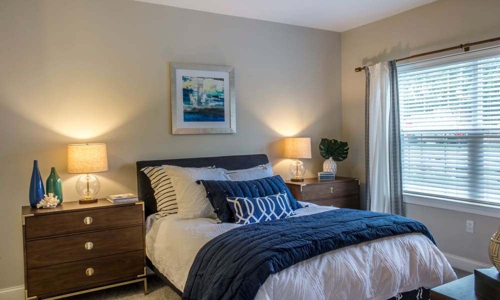 Enjoy a cozy bedroom at The Cove at Riverwinds in West Deptford