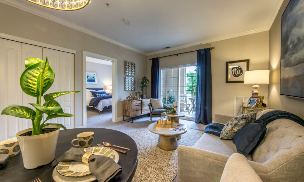Beautiful living room at The Cove at Riverwinds in West Deptford, New Jersey