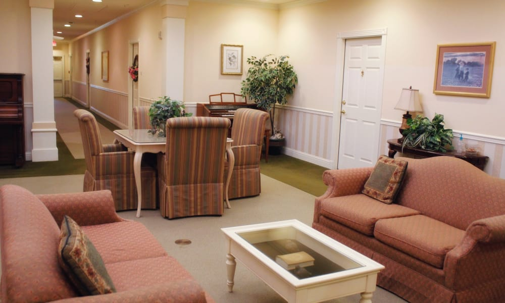 Main lobby at Azalea Estates of Slidell in Slidell, Louisiana