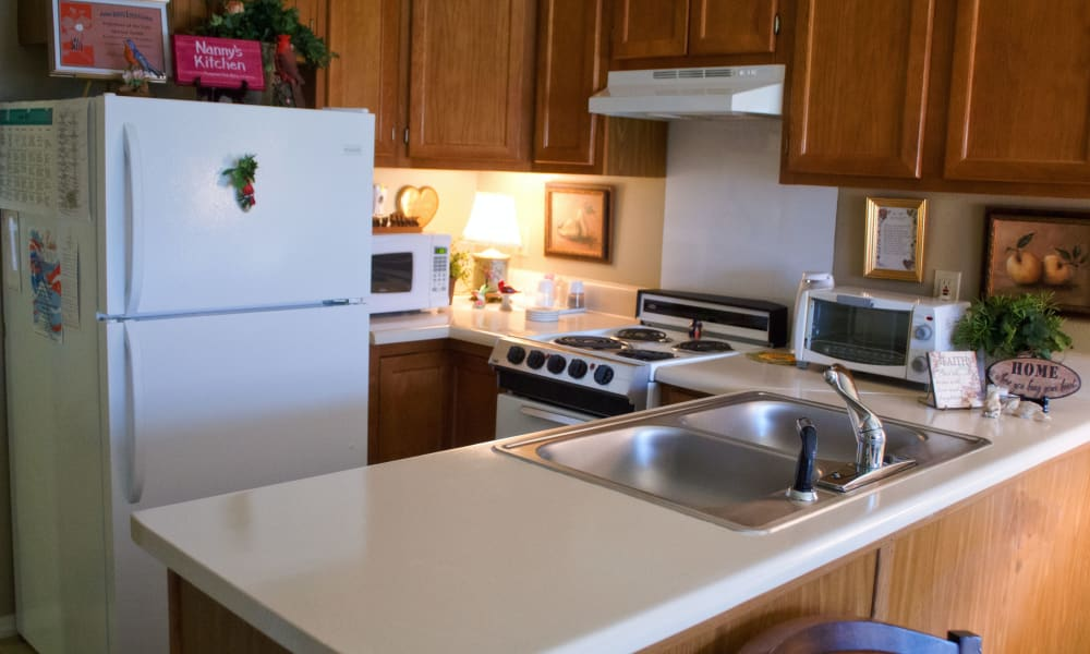 Clean kitchen at Azalea Estates of Slidell in Slidell, Louisiana