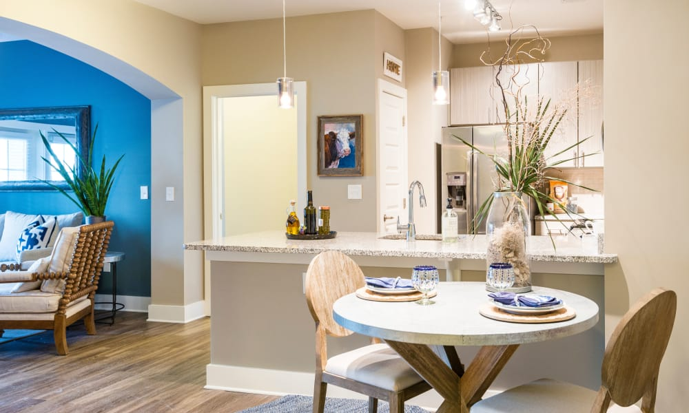 The Heyward offers a dining table in Charleston, South Carolina