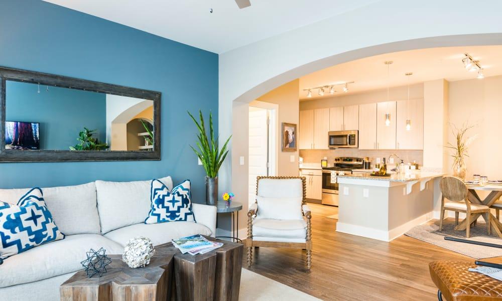 Beautiful apartment interior at The Heyward in Charleston, South Carolina