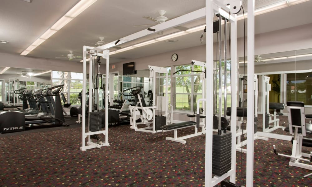 Fitness room at Audubon Oaks in Lakeland, Florida
