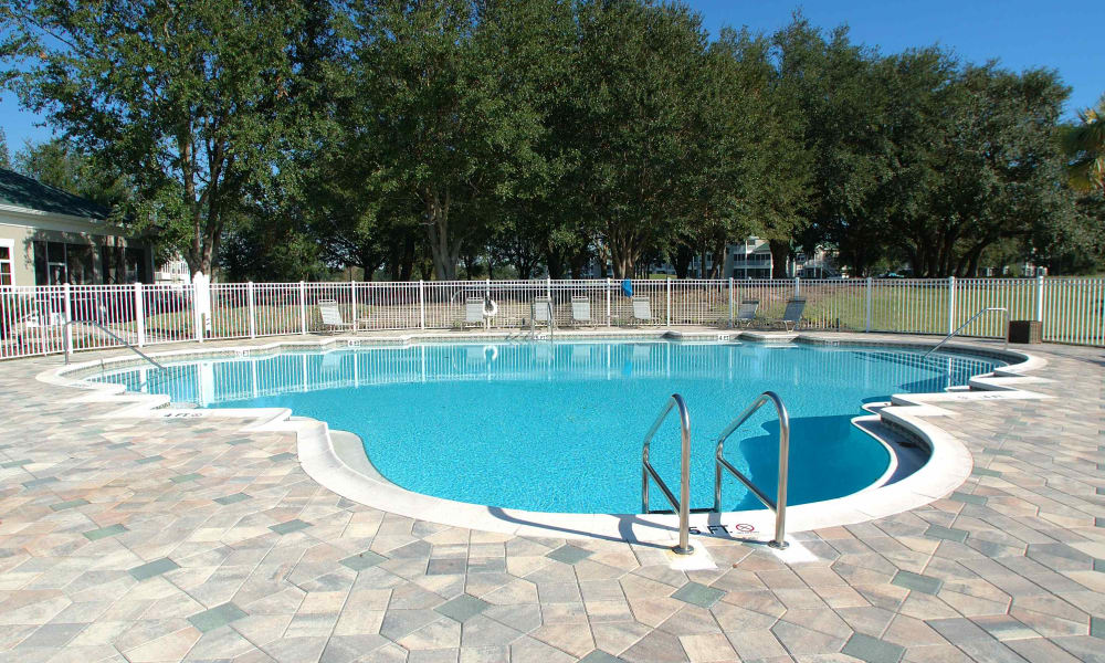 Community pool at Audubon Oaks in Lakeland, Florida