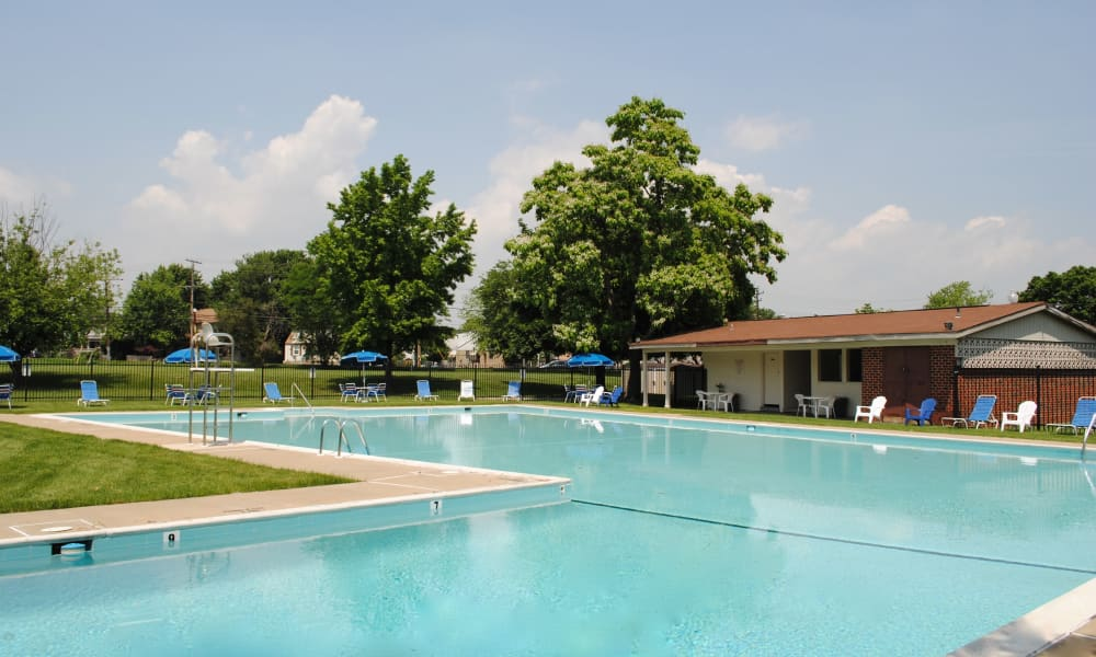 Swimming pool at Charlesmont Apartment Homes in Dundalk, MD