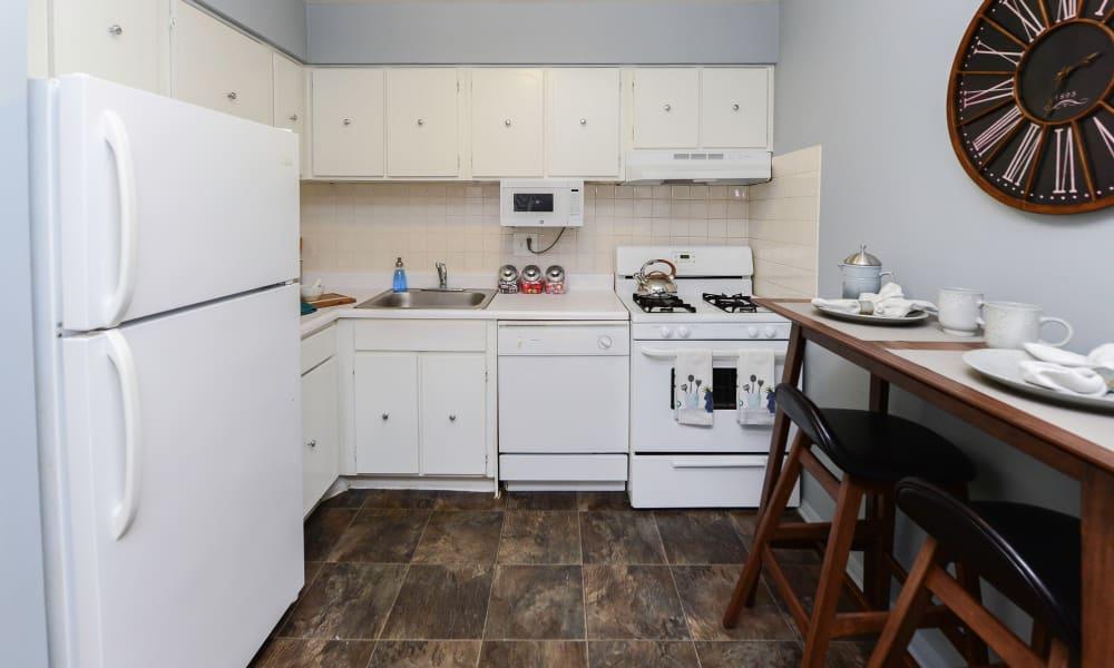 Beautiful kitchen at apartments in Philadelphia, Pennsylvania