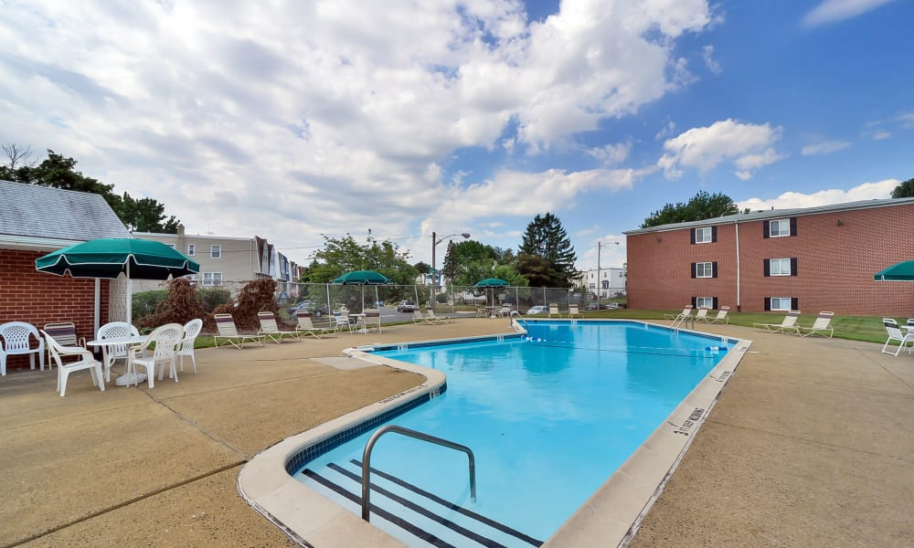 Swimming pool at Brookmont Apartment Homes in Philadelphia, PA