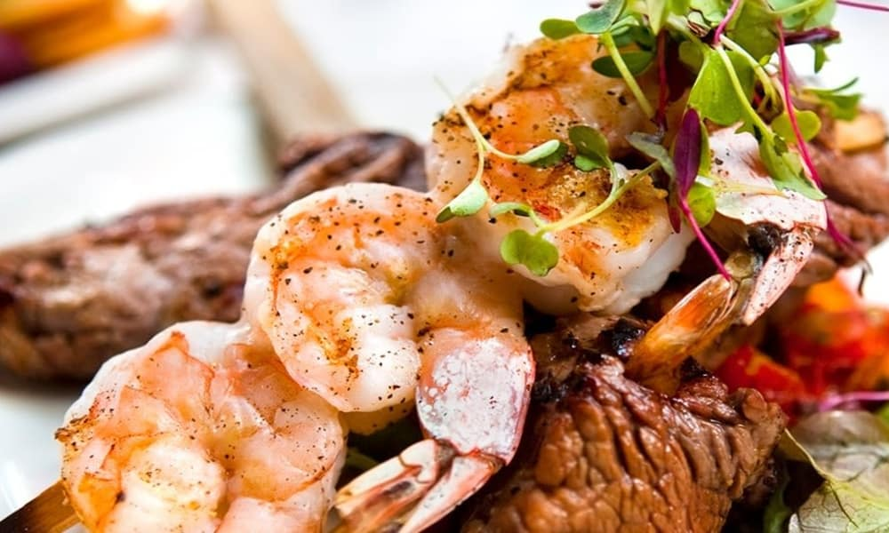 Surf and turf at Azalea Estates of Slidell in Slidell, Louisiana