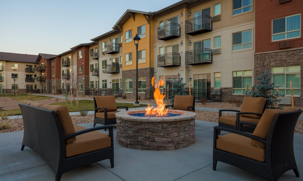 Affinity Living Communities fire pit