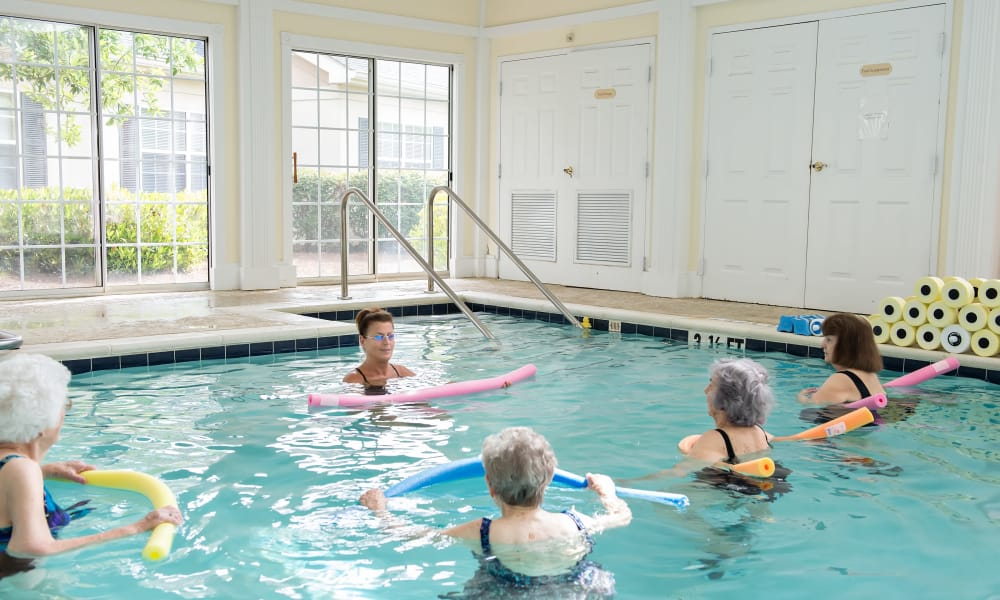 A variety of wellness activities are offered at Azalea Estates of Fayetteville