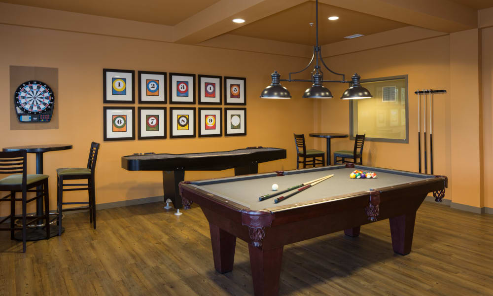 Pool table at Affinity Living Communities