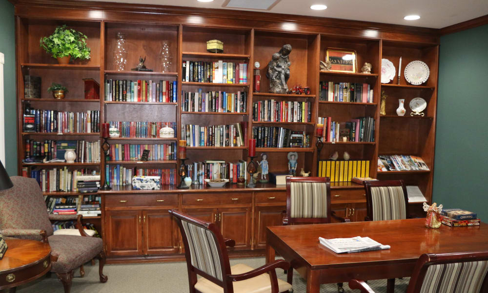 Gorgeous library at Azalea Estates of Gonzales in Gonzales, LA