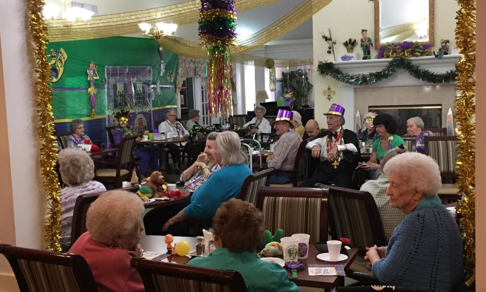 Mardi grass celebration at Azalea Estates of Gonzales in Gonzales, LA