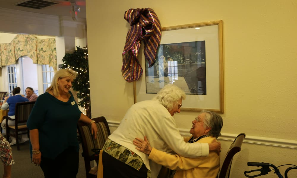 Residents of Azalea Estates of Slidell talking to eachother in Slidell, Louisiana