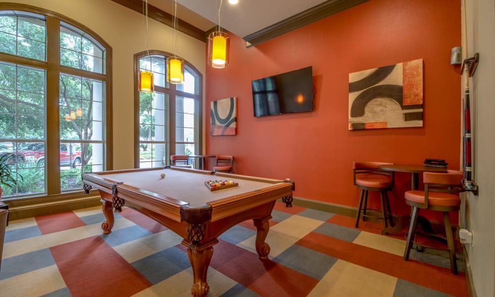 Billiards at Manor at Castle Hills in San Antonio