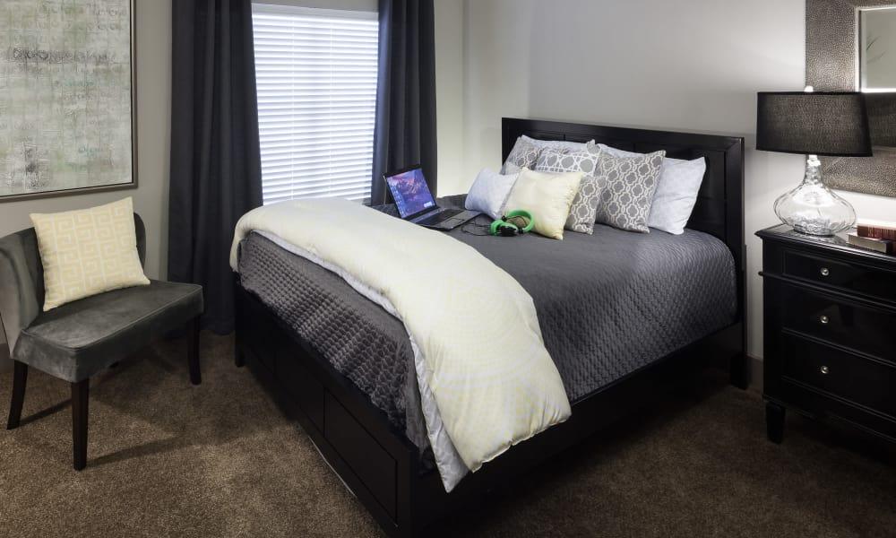 Master bedroom at Tintara at Canyon Creek in Austin