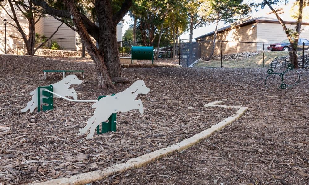 Dog Park toys at Tintara at Canyon Creek in Austin