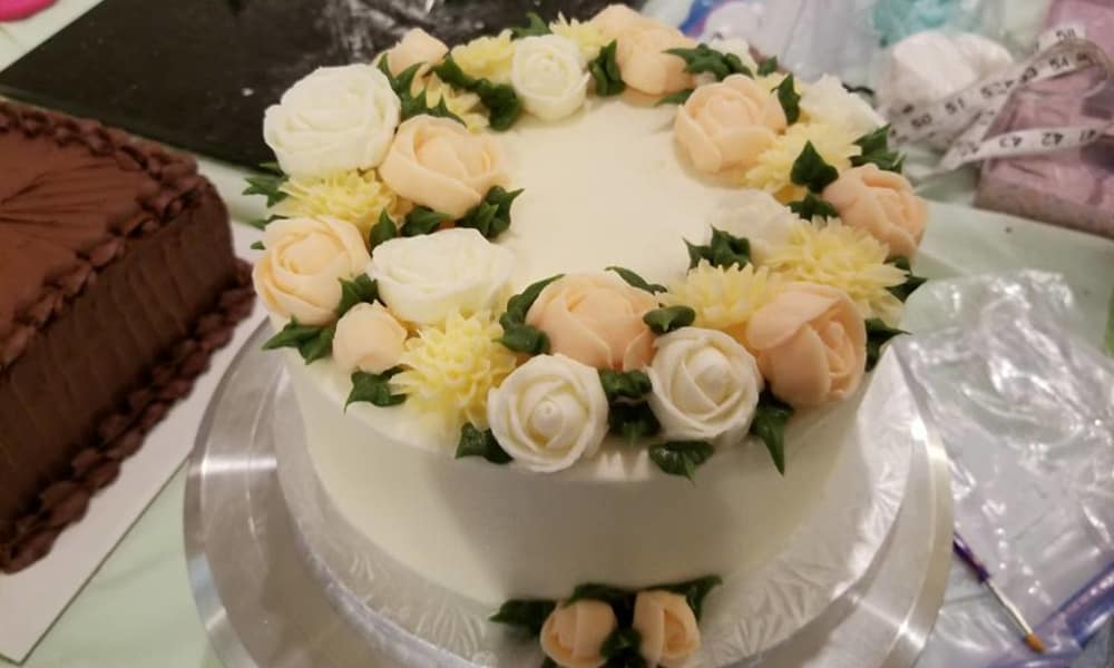 Beautiful birthday cake at Azalea Estates of Monroe in Monroe, Louisiana