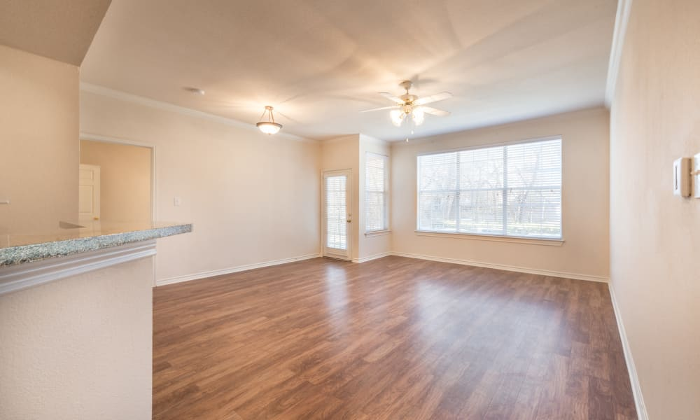 Beautiful hardwood floors at Bella Vida Estates in Plano, Texas