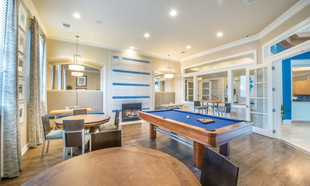 Game room at Bella Vida Estates in Plano, Texas