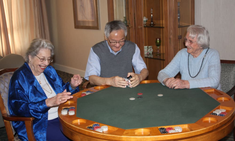 Poker game being played at The Fair Oaks in Pasadena, California