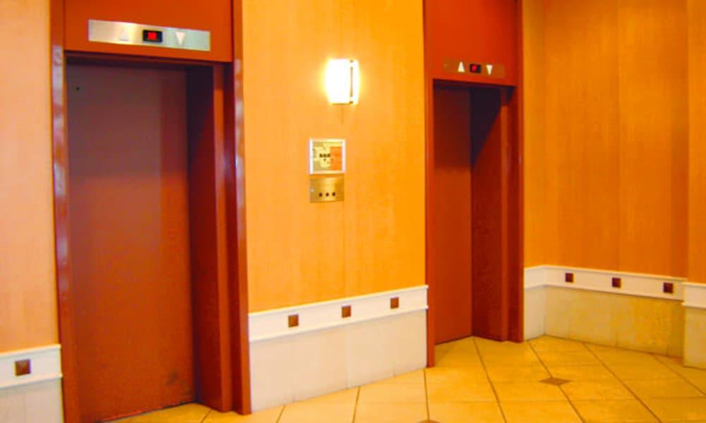 Elevators at Calgary Place Apartments in Calgary