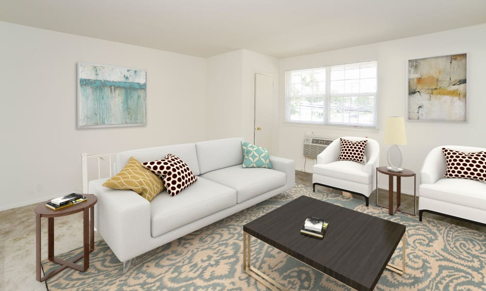 Beautiful Living Room at Burnt Mill Apartment Homes in Voorhees, New Jersey